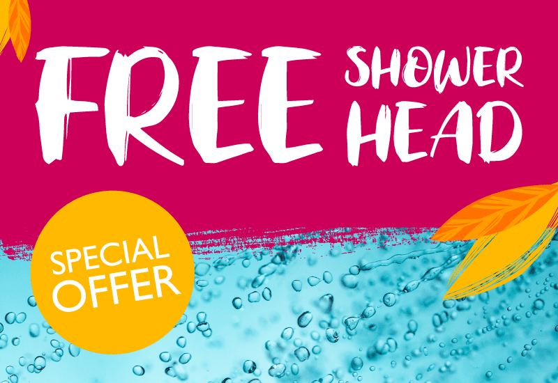 Complete your bathroom with a FREE shower head!