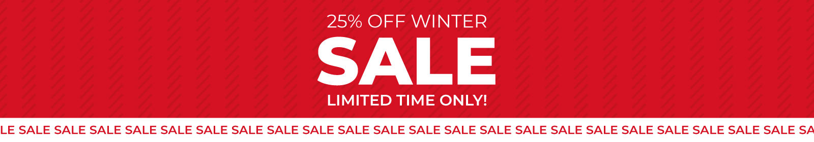 Winter sale now on - 25% off all bathrooms instore now!