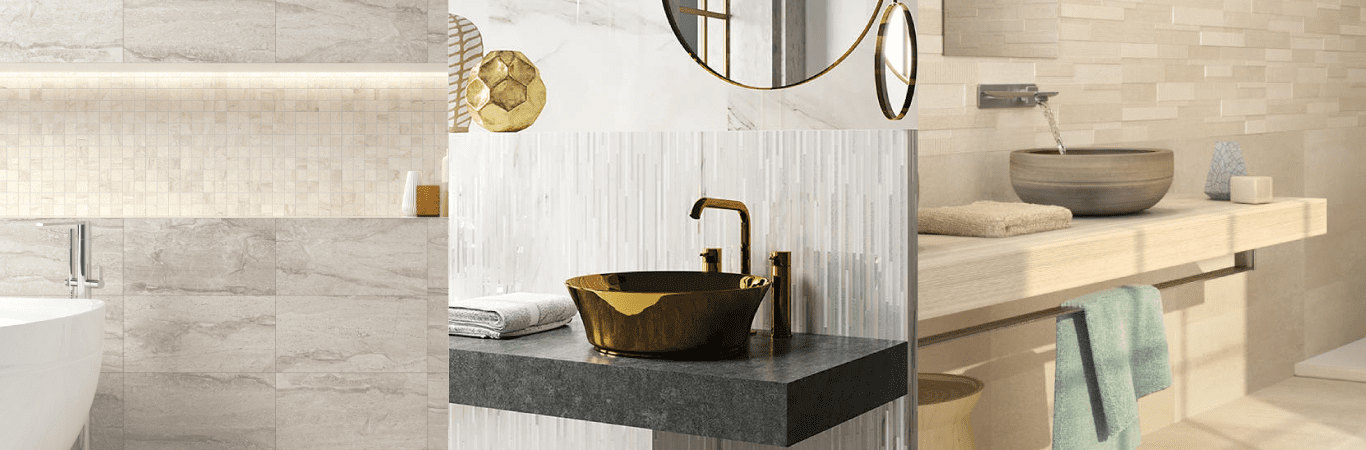 Lighten up your bathroom with these tile designs