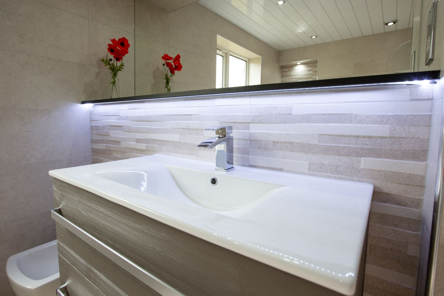 Three luxurious, calming modern bathrooms for Burnley home